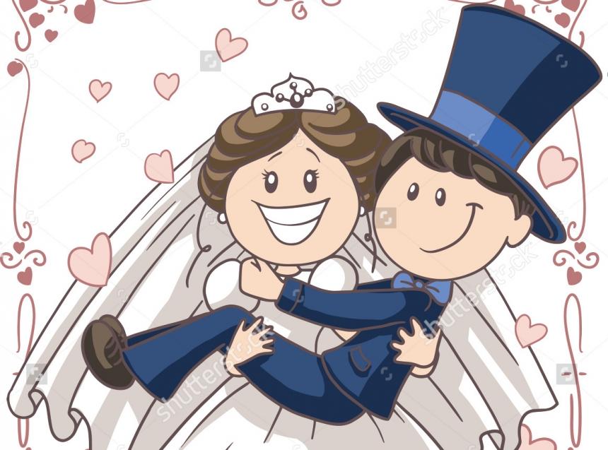 Мультяшные картинки на свадьбу смешные, картинки